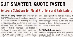 FastCAM Corporate Profile published in Metal Center News