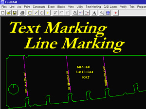 Mark text and lines on your cut parts